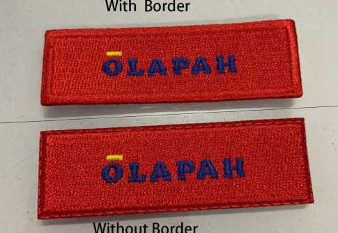 OLAPAH with backing patch iron on customization full embroidery badge