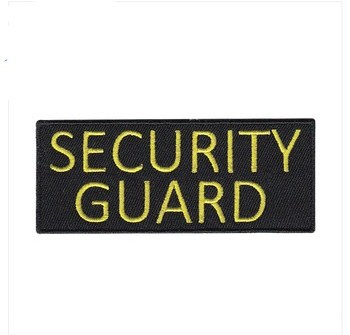 Garment security guard letter sticky embroidery patches