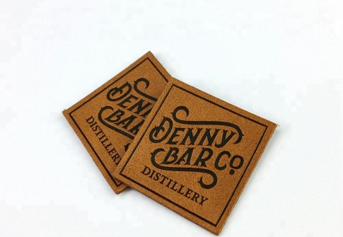 custom embossed private logo leather patch for bag and jeans  2 buyers