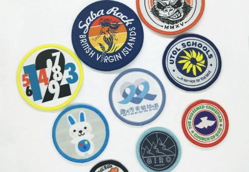Custom Woven Patch/ Football Soccer Woven Badge/ Kid Clothes Applique Patches