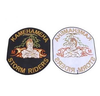 Custom hand made stick-on souvenir embroidered patches for jeans