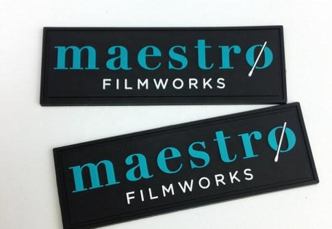 Clothing embossed plastic logo rubber badge
