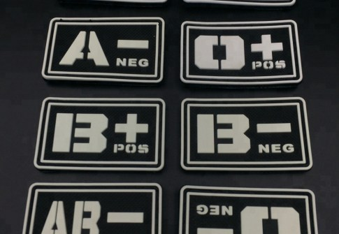 Rubber Patch Garment Brand Logo Custom glow in the dark PVC patch