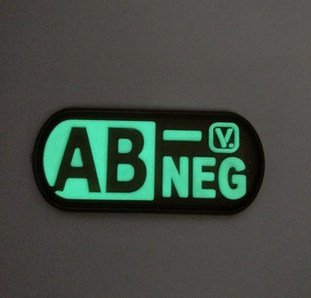 Factory customized letter printed luminous fluorescent rubber patches