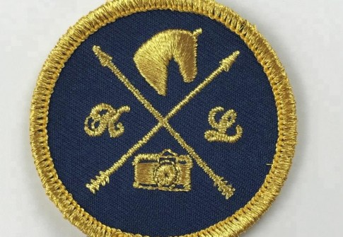 Wholesale Custom Logo Hook and Loop 3d embroidered patches for clothing