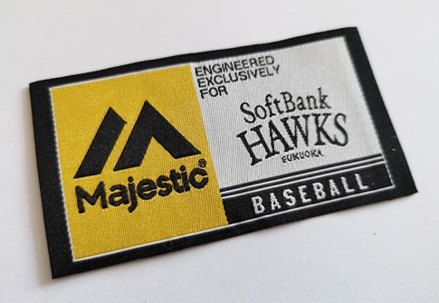 High density custom embroidered woven patches baseball woven patch