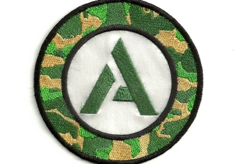 Custom design clothing merrow border iron on round navy military army embroidery patches