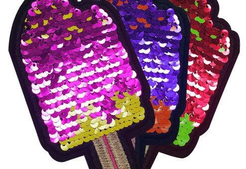 Newest product sequin applique clothing embroidery patch