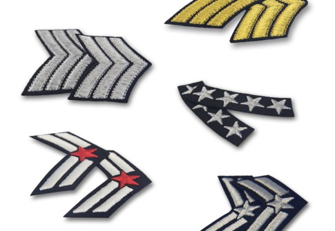 Custom Military Uniform Stripes Army Embroidered Arms Emblem Iron On Sew On Shoulder Patch