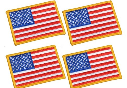 Wholesale National Flag Embroidery Patch Custom American Flag Military Uniform Shoulder Patch