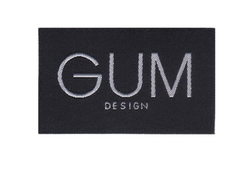 Custom black background clothing woven patch