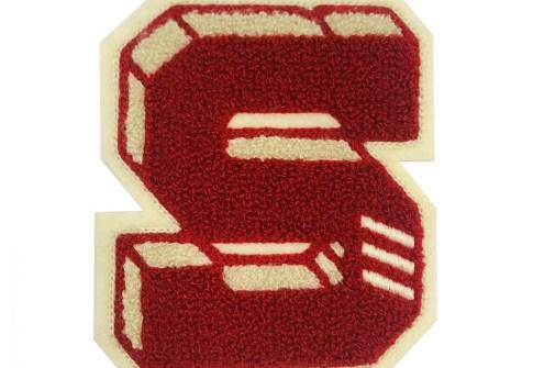 New style custom chenille alphabet applique,sew on chenille letters patches,custom chenille hoodie patch