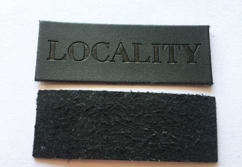 Wholesale custom heat transfer pu leather label patch for jeans