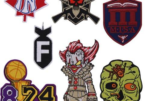 Skull patch Embroidered Patches Custom Patches embroidery Iron-on accessories for clothing Bag Shoes custom patch