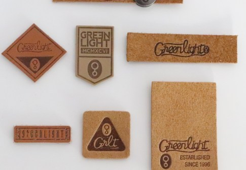 Biodegradable Custom Brand Embossed Or Debossed Logo Leather Label Metal Swing Tag For Jeans /Underwears/Clothing Patches