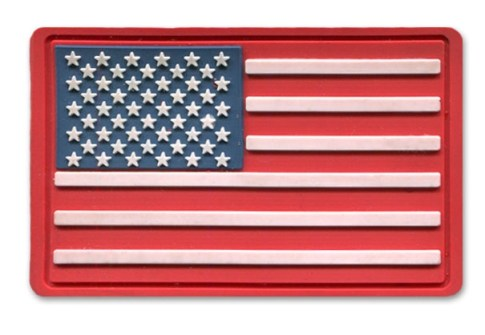 3D patches PVC patch custom American flag rubber patches in different colors