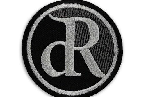 High Quality Round Patch Custom Design Heat Press Woven Patches