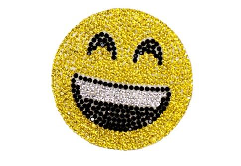 Valentine custom rhinestone cartoon emojis t-shirts patches for clothing