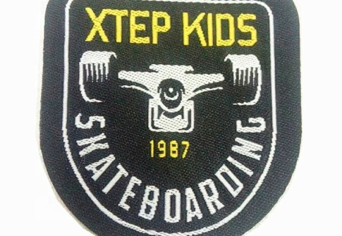 Wholesale factory Customized Brand Name woven patches iron on custom patches for clothing