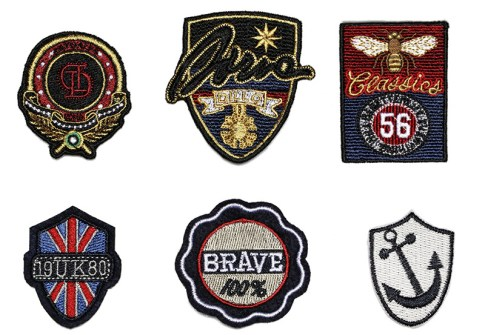 The fine quality custom armband 3d embroidery patch for clothing applique