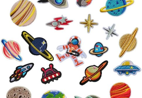 Space Planets Patch Iron on Applique Patches Sew On Badge Applique Patch for Jeans Clothing Denim Jeans Jacket Handbag Shoes