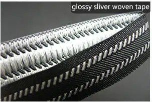 Glossy sliver woven tape