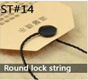 Round lock string