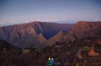 Le Maido et le Col du Taibi vus du Piton des Neiges