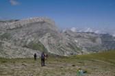 Début de la descente, Cima delle Saline au fond – Jour 2 – Tour du Marguareis – Juin 2016 – Trek, Rando, Italie