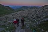 Randonneurs aux premières leurs du jour – Jour 5 – Tour du Marguareis – Juin 2016 – Trek, Rando, Italie