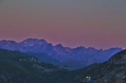 Lever du jour sur le Mercantour – Jour 5 – Tour du Marguareis – Juin 2016 – Trek, Rando, Italie