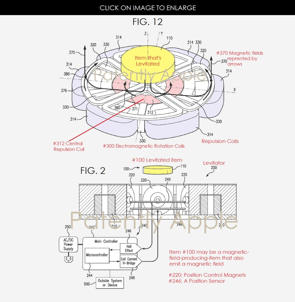 Wireless Charging Technology Circuit Diagram Trusted Wiring Diagrams Mobile Phone Battery Charger Apple Patents Floating Qi Levitating