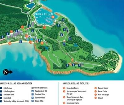 Hamilton Island Map