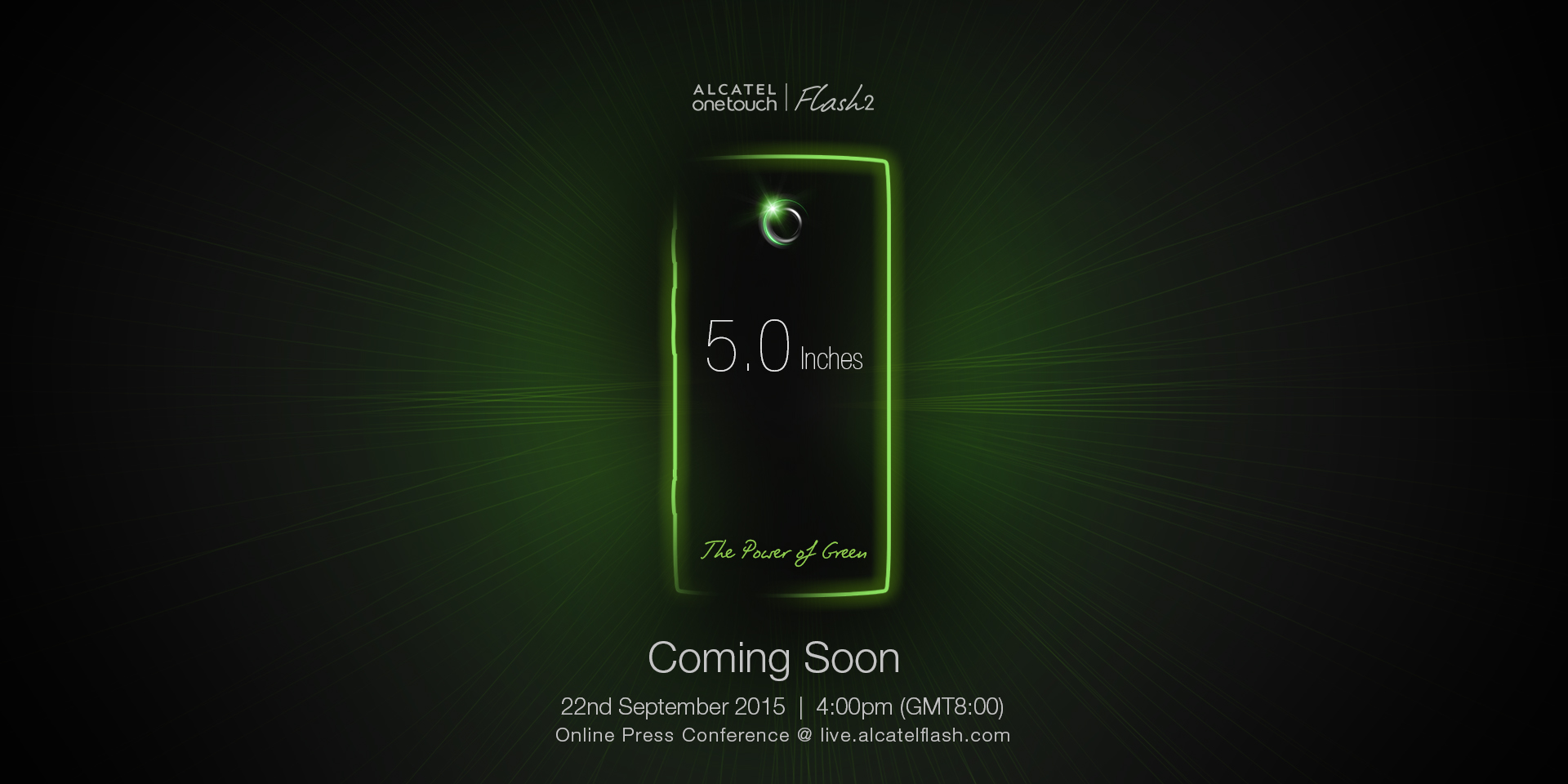 Alcatel One Touch Flash  – The Power of Green