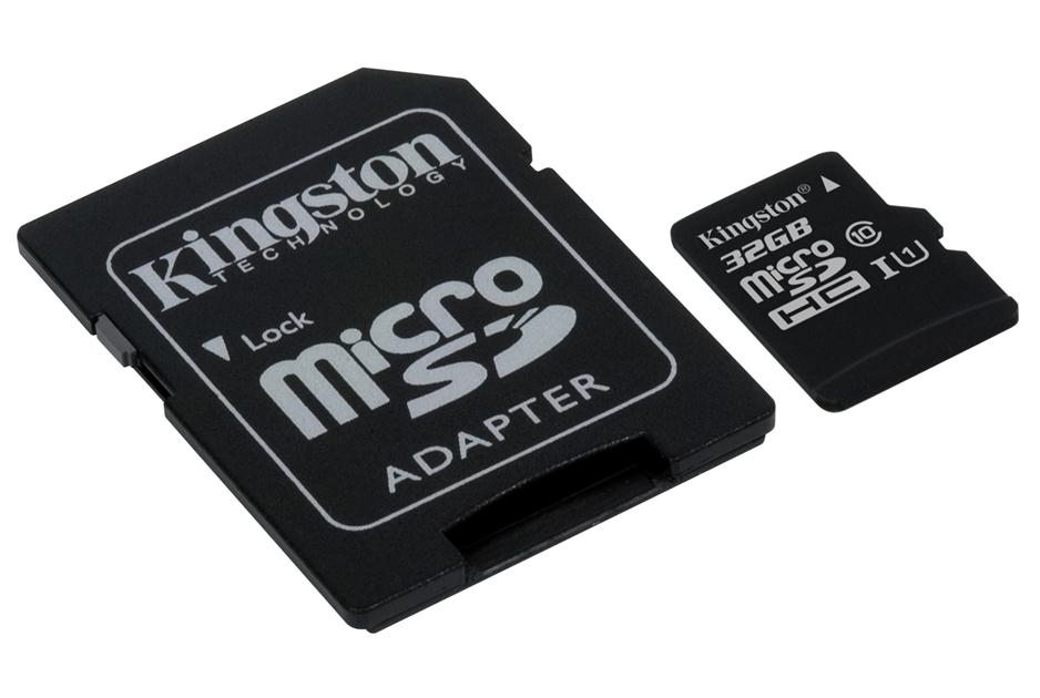Kingston 32GB Class10 UHS-I microSD Card w/ Adapter – SDC10/32GB