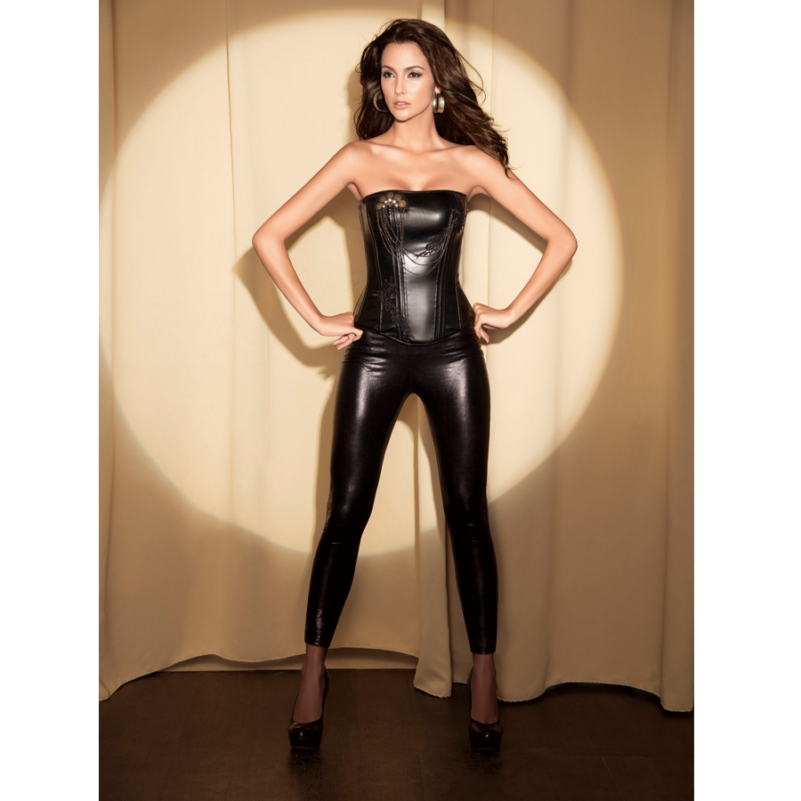 Leather Corset With Beaded N2839 Sexy Corsets Wholesale
