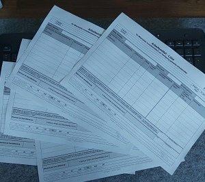 Formblatt, Formular, Formblätter