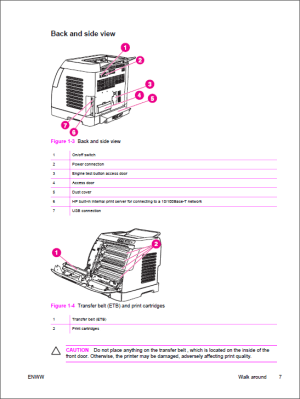 HP Color LaserJet 2600n Service Manual  Repair Printer