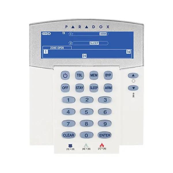 K37 Paradox Wireless 32-Zone LCD Keypad