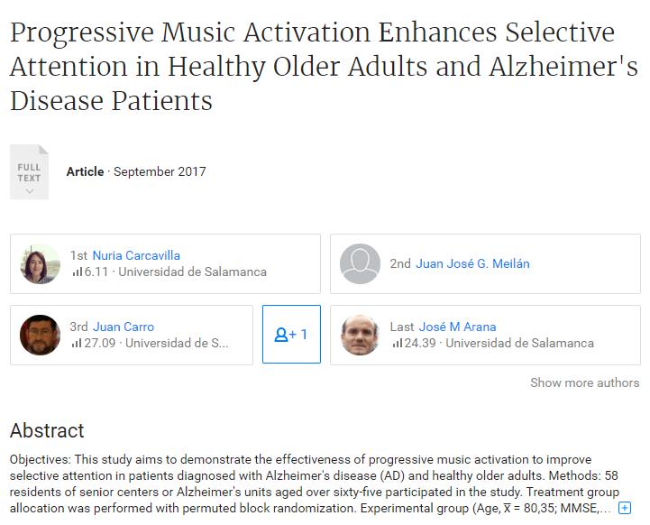 alzheimer y música