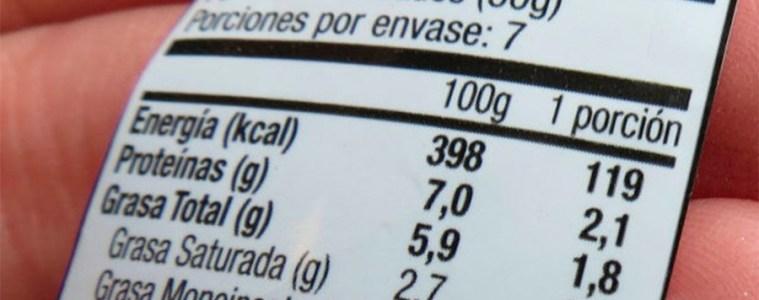 etiqueta nutrición alimentos