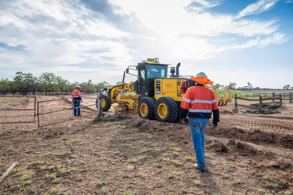 Workers at the Carmichael Coal Project. (Photo credit Adani Australia)