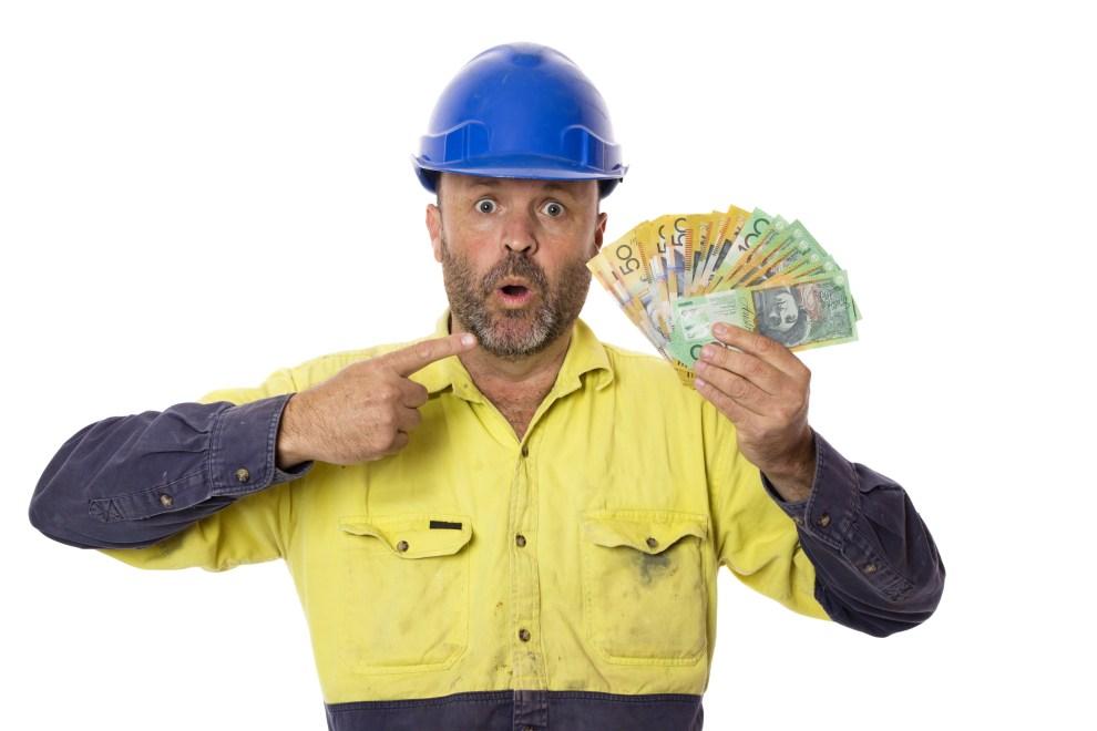 Australian money mine worker Adobe Stock Image Library