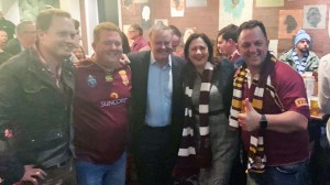 Annastascia Palaszczuk and Anthony Albanese Maroons State of Origin