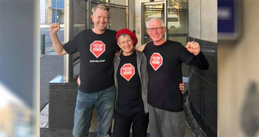 Galilee Blockade protestors Ben Rae John at Brisbane Watch House