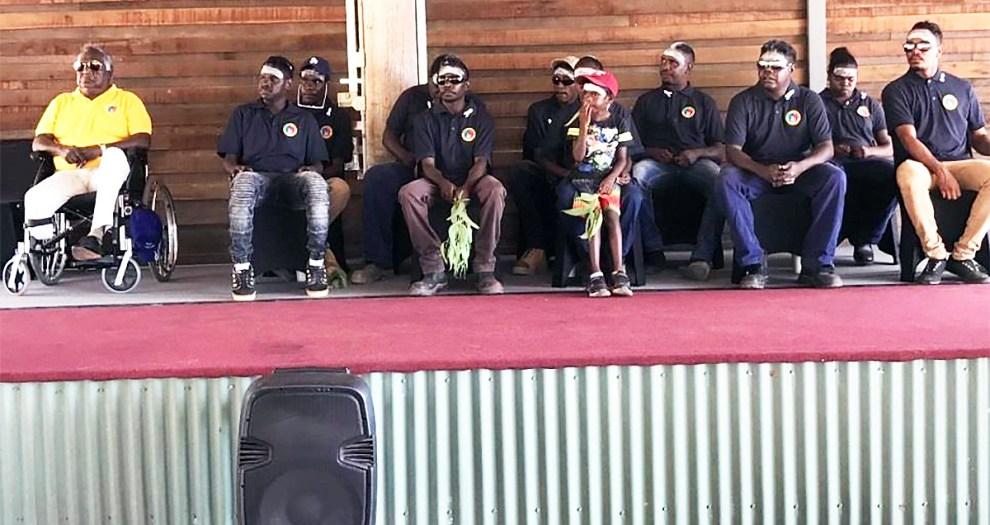 Galarrwuy Yunupingu and trainees