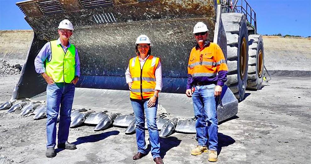 Deb Frecklington at New Acland Coal Mine