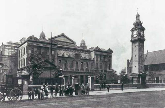 The People's Palace, Mile End Road, circa 1900'