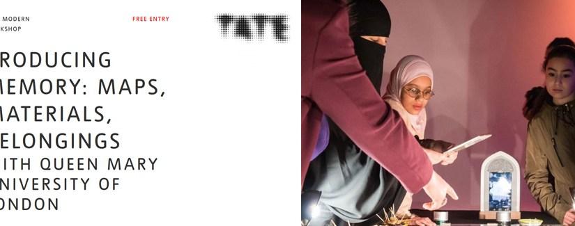Tate Exchange: Producing Memory: Maps, Materials, Belongings – Full Programme