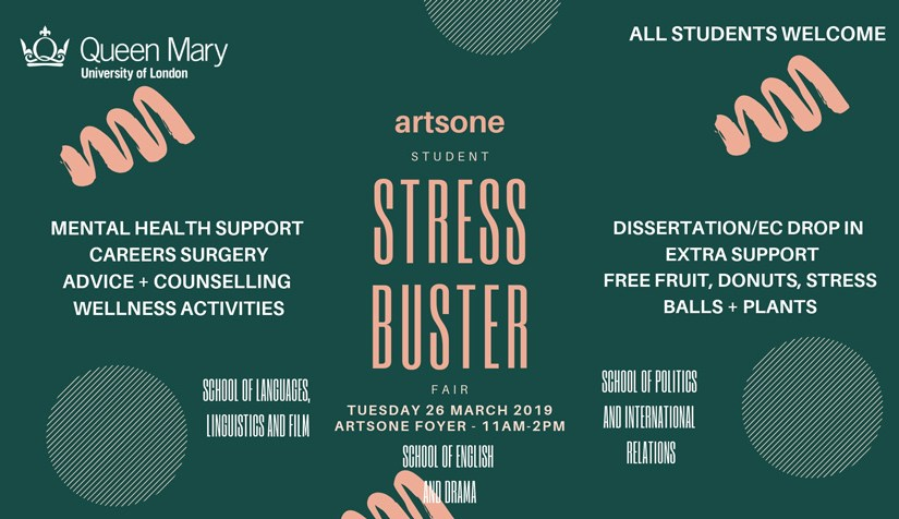STUDENT STRESS BUSTER FAIR – Tuesday 26 March 2019 in ArtsOne